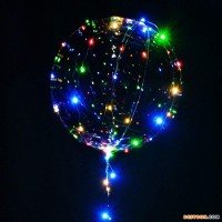 Wholesale Luminous 8 Inch 12 Inch Party Led String Light Up Bobo Balloon
