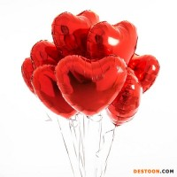 Heart Shape Wedding Balloons Helium Foil Balloons For Party 75cm