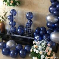 Metallic Ink Blue Balloon Diy Balloon Arch Garland Kit For Party Decoration