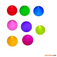 Minetoys Pvc Light Up Balloon Colorful For Sell