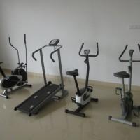 Magnetic bike, treadmill.